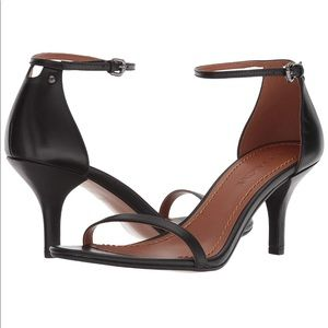 Coach Black Leather Heel Sandals